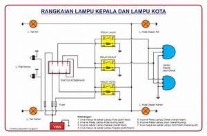 Rangkaian Sistem Lampu Kepala Dan Lampu Kota