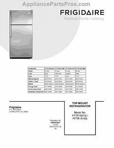 Parts For Frigidaire Fftr1821qw1  Cover Sheet Parts