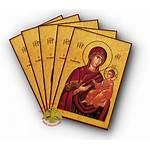 Theotokos Laminated Holy Souls Saviour Icon Nioras