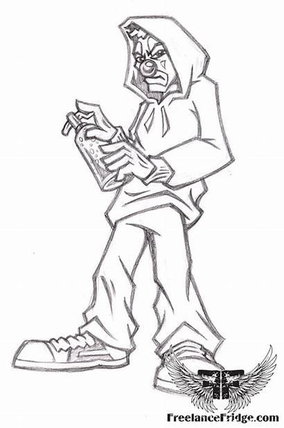 Clown Graffiti Cartoon Character Urban Gangster Drawing