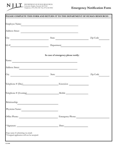 FREE 14+ Employee Emergency Notification Forms | PDF