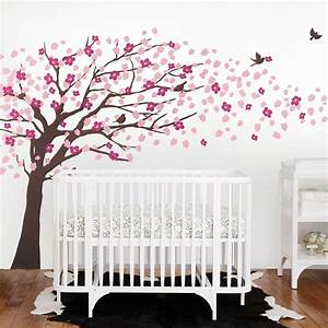 Cherry blossom tree decal elegant style