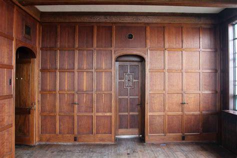 arts crafts solid oak paneled room olde good