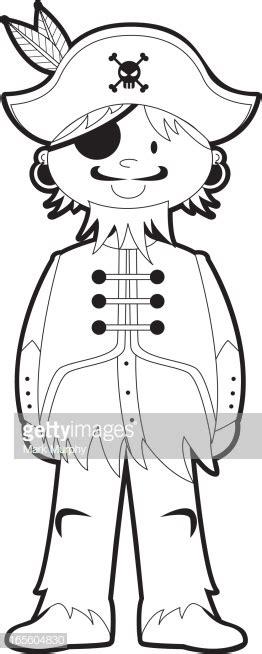 colour  pirate captain template stock illustration