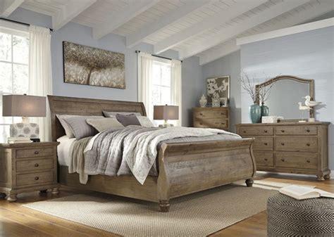 Ashley Furniture Trishley Light Brown Master Bedroom Set