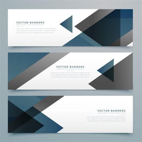dark triangular banner design vector premium