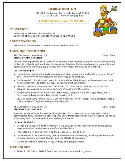 pre primary school resume sle resume template