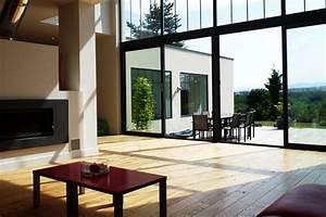 maison moderne avec grande baie vitree chaioscom With maison avec baie vitree