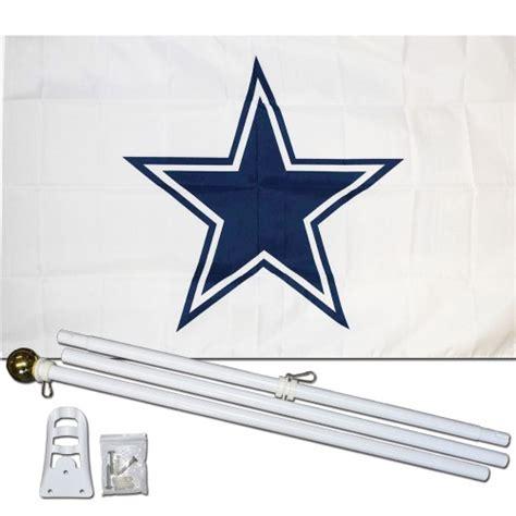 dallas cowboys white    polyester flag pole  mount