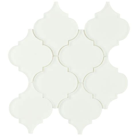 merola tile lantern frosted white 8 in x 8 5 8 in x