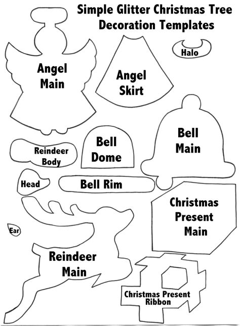 templates  christmas decorations template
