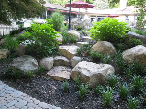 Make Stone Steps From Fieldstone Boulders  Landscapeadvisor. Mirrored Bar. Blue Porcelain Tile. Patio With Fire Pit. Advantagelumber. Entry Hall Table. Kids Ceiling Lights. Staircase Railing. Barn Doors