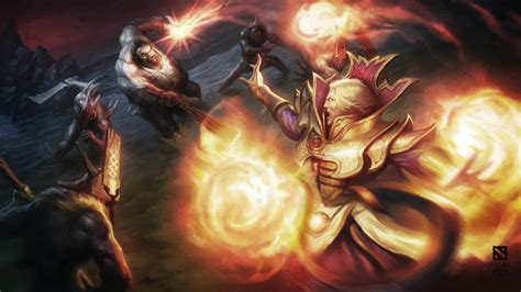 invoker dota  hero battle fire balls magic monsters ultra