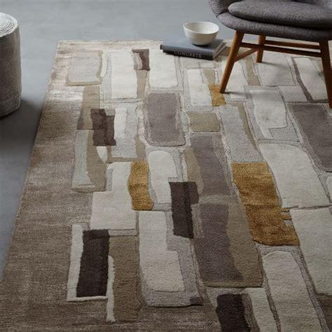 alabaster tile wool rug west elm