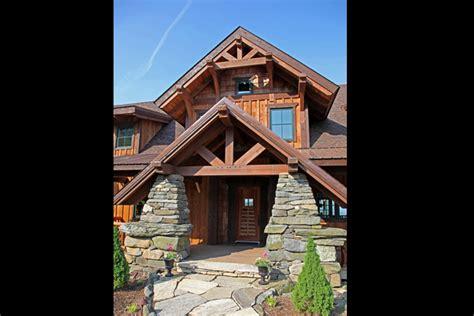 vista lodge  story timber frame house plans log home designs