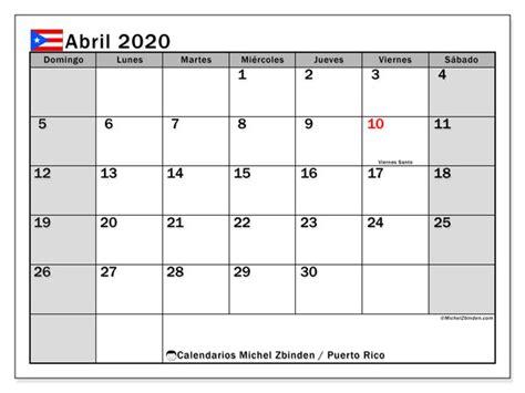 calendario abril puerto rico michel zbinden es