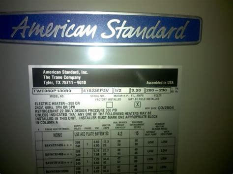 manual  american standard heat pump doityourselfcom