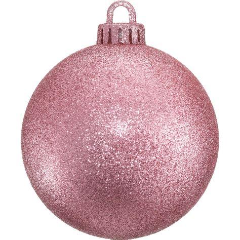glitter baubles blush pink dzd