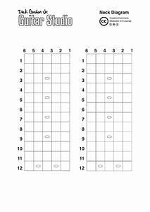 Guitar Neck Diagram Template Printable Pdf Download