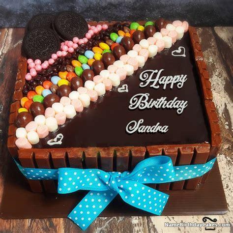 happy birthday sandra cakes cards wishes