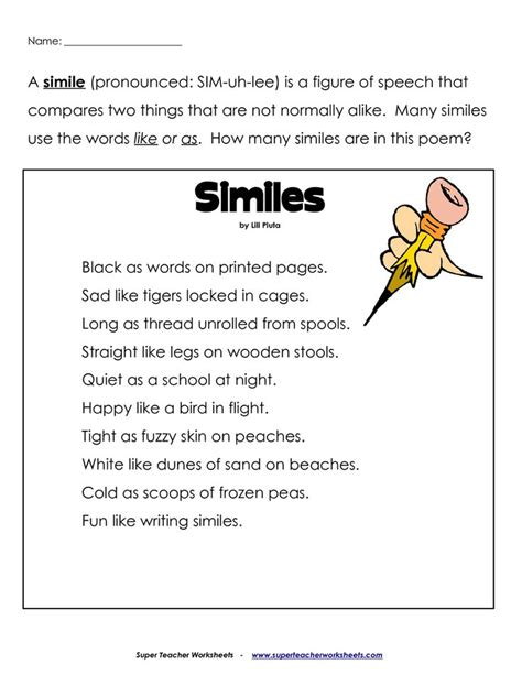 101 best images about simile metaphor on