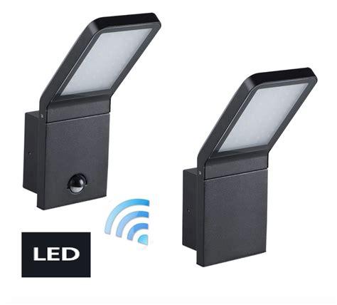 Neu LED Aussenlampe Aussenleuchte Schwarz Bewegungsmelder