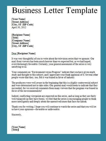 Business Letter Template Get Business Letter Template Word Projectemplates