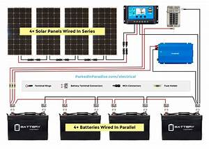 Solar Panel Calculator And Diy Wiring Diagrams For Rv And 48v Solar Panel Wiring Diagram Pv