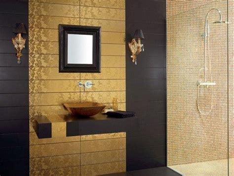 designer bathroom tile złote płytki do łazienki zdjęcia e łazienki