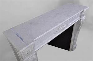 Marbre Blanc De Carrare : belle chemin e ancienne de style louis xvi feuilles d ~ Dailycaller-alerts.com Idées de Décoration