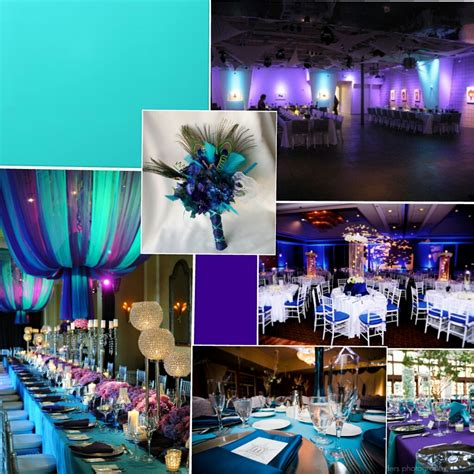 turquoise and purple wedding color inspiration daisy