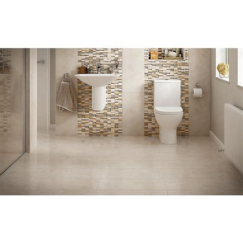 mosaic tile for shower floor wickes brook beige porcelain tile 600 x 300mm wickes co uk