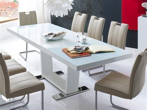 designer tisch weiss esstisch ausziehbar 160 240 x90x76cm tisch hochglanz weiss auszugstisch magno ebay