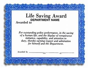 life saving award certificate With life saving award certificate template