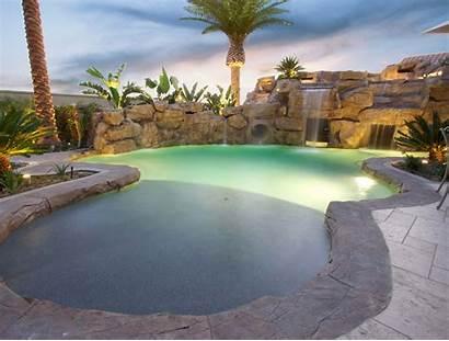Pool Rock Pools Waterfall Designs Wall Step