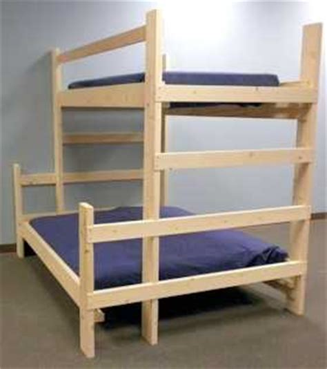 free bunk bed plans twin over queen quick woodworking
