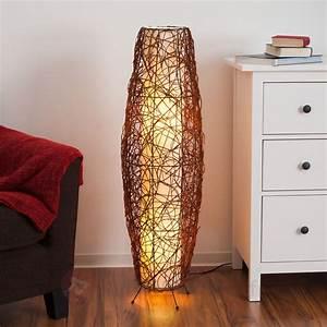 Lampe De Sol : lampe de sol medine en rotin lampadaires pinterest ~ Dode.kayakingforconservation.com Idées de Décoration