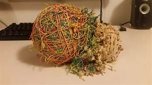 My rubber band ball exploded. : mildlyinteresting Balls and Bands