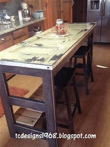 Hometalk Kitchen Island Made From an Old Door