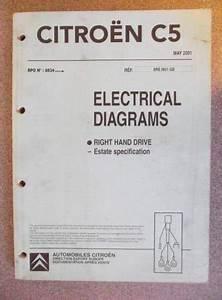 Citroen C5 Estate Electrical Diagrams Manual 2001