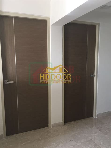 veneer soild door  stainless steel stripe hddoor pte