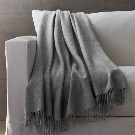grey alpaca throw blanket crate  barrel