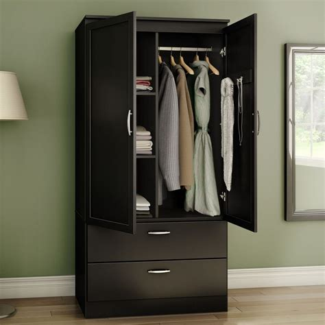 Cupboard Doors Lowes by Shop South Shore Furniture Acapella Black Armoire At