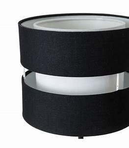Abat Jour Noir Et Blanc : applique murale en m tal noir et abat jour tissu noir et blanc ~ Teatrodelosmanantiales.com Idées de Décoration