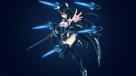 Blue Eyes White Dragon Background Wallpaper Floating Swords Sword Girl Anime Girl 4k Anime 2131