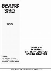 Sears 200 71211 Users Manual 00 000510 995
