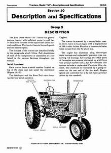 John Deere Service Manual For Model 50  520  530 Series