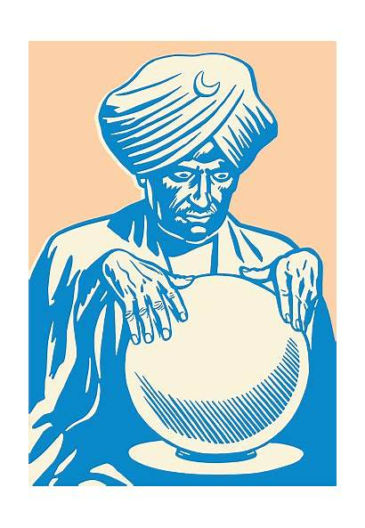 Crystal Ball Vector Fortune Looking Into Teller