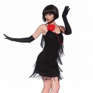 Déguisement Année 30 : costume deguisement robe a frange sequin 20s charleston ~ Melissatoandfro.com Idées de Décoration