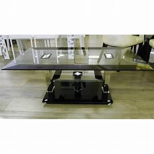 Table Basse Verre Trempé : table basse noire et verre tremp electro discount ~ Teatrodelosmanantiales.com Idées de Décoration